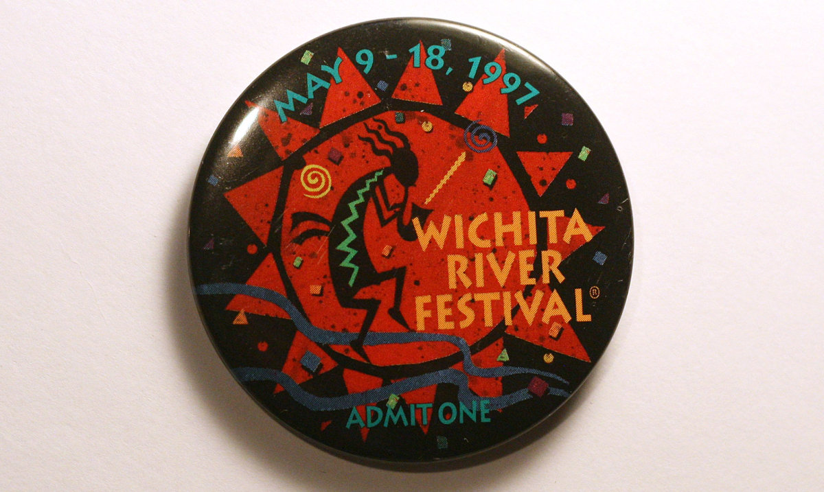 1997 Wichita Riverfest Button
