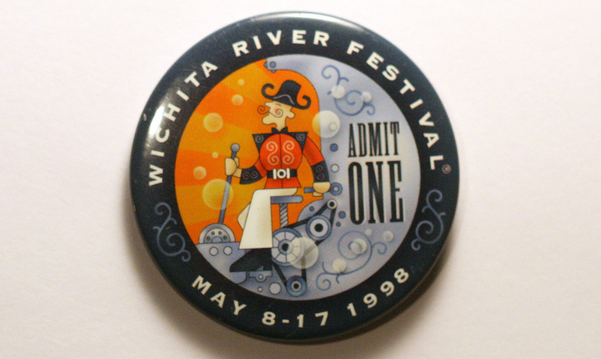 1998 Wichita Riverfest Button