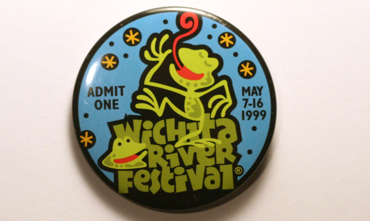 1999 Wichita Riverfest Button