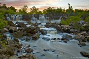 Santa Fe Lake Kansas Waterfall