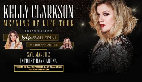 Win Two Tickets to see Kelly Clarkson
