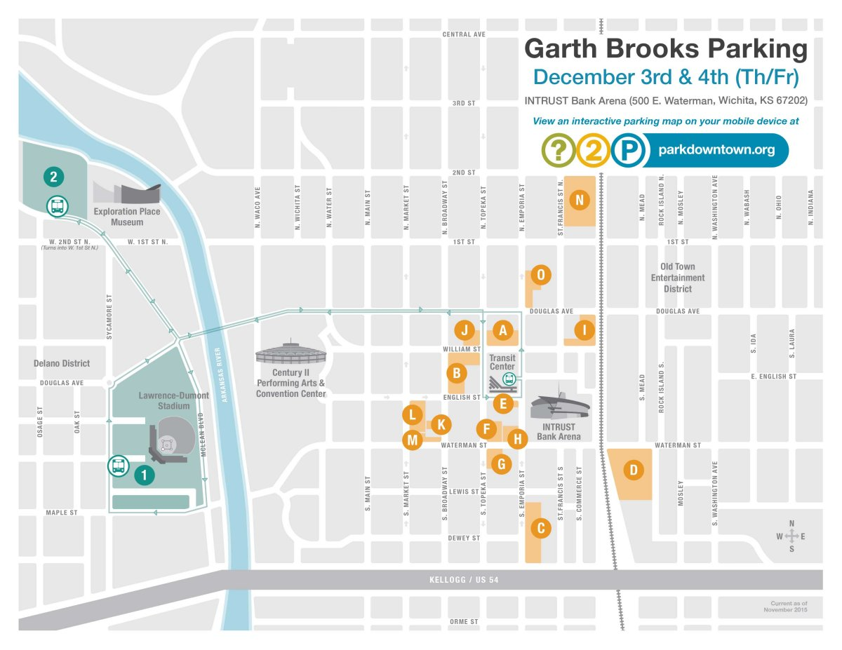 Garth Brooks Thursday/Friday Map