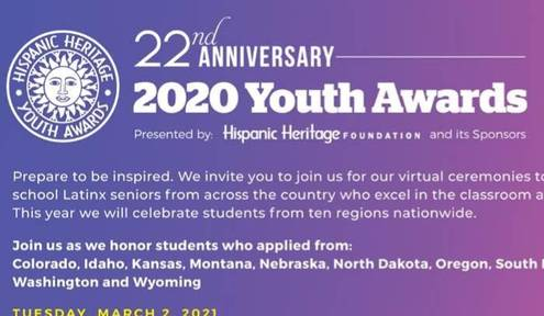 Wichita Student Honored at Hispanic Heritage Foundation's Youth Awards Ceremony