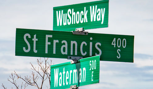 City Renames Waterman Street in Honor of Wichita State Shocker Basketball Game