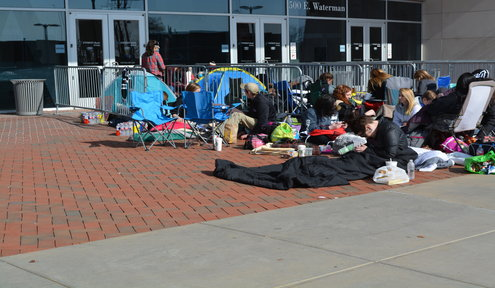 Twenty One Pilots Fans Camp Outside Arena